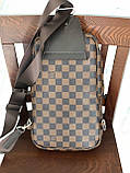 Сумка слинг через плечо Louis Vuitton M128 коричневая, фото 7