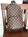 Сумка слинг через плечо Louis Vuitton M128 коричневая, фото 3