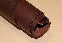 Натуральная кожа КРС,ременной (чепрак)коричневый краст3,6-4,0 мм, сорт стандарт