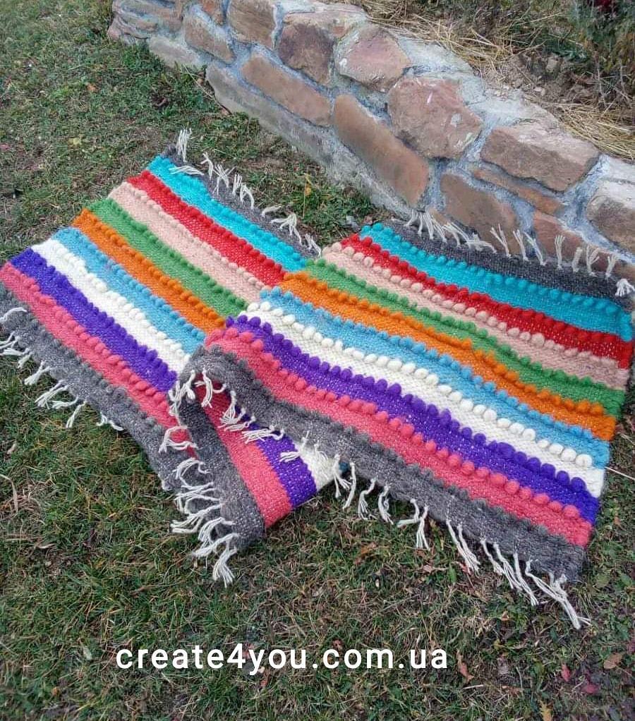 Ліжник-коврик, доріжка з натуральної овечої шерсті 70*220 см