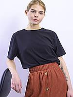 Черная футболка женская Fruit Of The Loom, размер XS/S/M/L/XL, арт. 0819