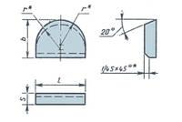 Пластины т/с тип 16 (ГОСТ 25405-90)