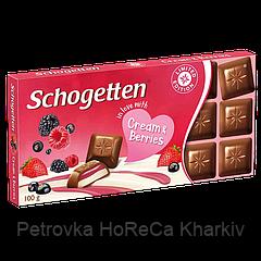 Шоколад Schogetten CREAM&BERRIES (Крем/Ягоды) 100 г 1ящ/15шт