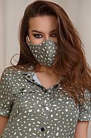 Защитная маска Lipar многоразовая с карманом Хаки