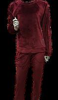 Костюм  велюровый LINGERIE бордовый, синий M XL, кофта штаны