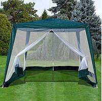 Шатер-павильон садовый 3х3 метра с тентом из полипропилена и москитной сеткой