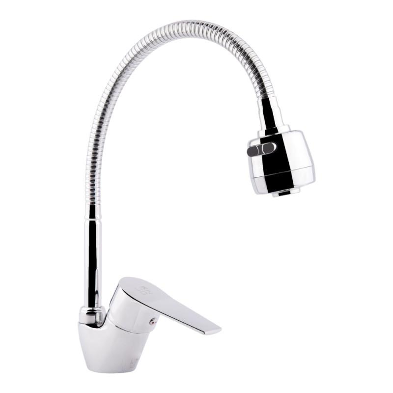 Смеситель для кухни с рефлекторным изливом Lidz (CRM)-20 38 007 04