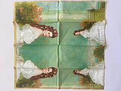 Серветка для декупажу 21х21 см зображення Єлизавети