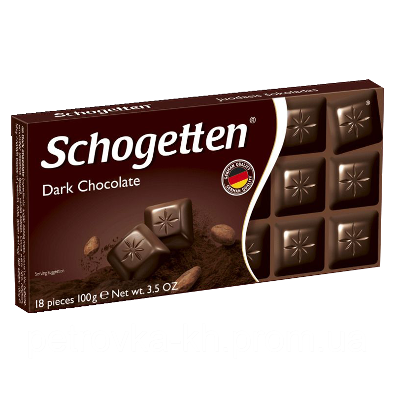 Шоколад Schogetten DARK CHOCOLATE (Черный) 1ящ/15шт