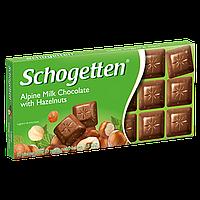 Шоколад Schogetten ALPINE MILK CHOCOLATE with HAZELNUTS (Лесной Орех) 1ящ/15шт