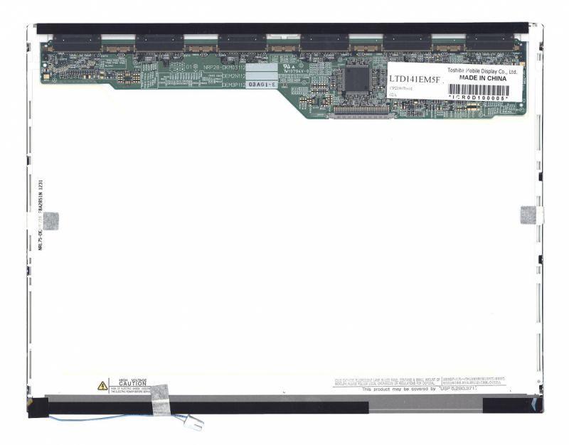 "Матрица для ноутбука 14,1"", Normal (стандарт), 30 pin (сверху справа), 1400x1050, Светодиодная (LED), без креплений, матовая, Toshiba, LTD141EM5F"
