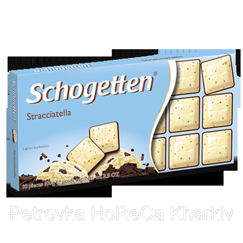 Шоколад Schogetten STRACCIATELLA (Пломбір) 1ящ/15шт