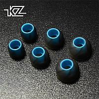 Амбушюры для вакуумных наушников KZ, комплект 3 пары, в боксе (черный)