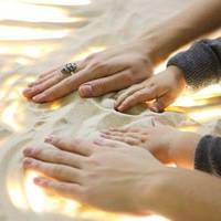 Белый песок для песочной анимации и монтессори