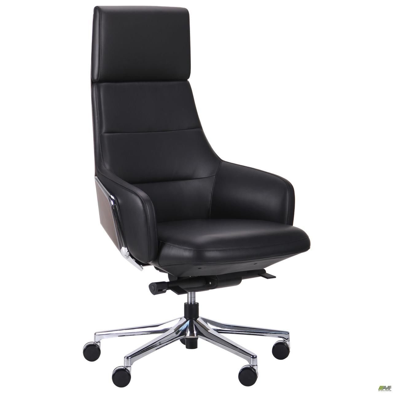 Кресло офисное кожаное AMF Dominant HB чёрное