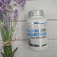 Calcium Zinc Magnesium BioTech USA 100 tabs.