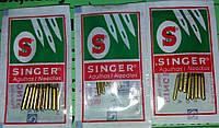Иглы швейные Singer 80, 90, 100, 110, 130 (по 10шт отдельно) к бытовым швейным машинам, фото 1