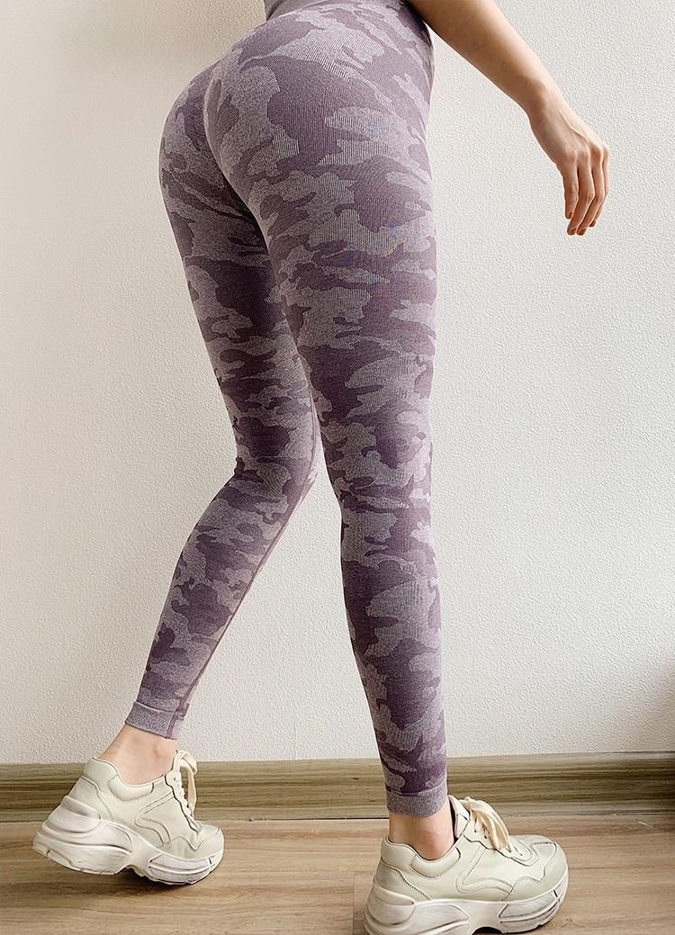 Женские спортивные леггинсы фиолетовые 4226