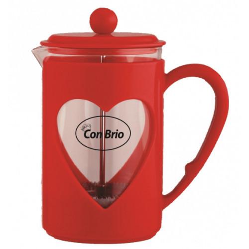 Заварник красный стекло пластик Con Brio CB5680