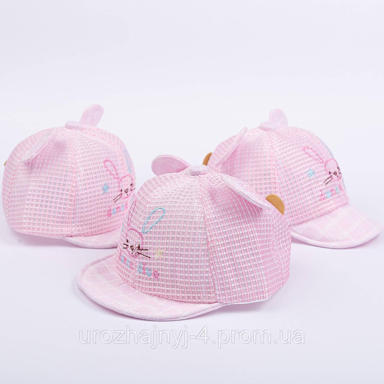 Котоновая кепка с сеточкой детская р46-48