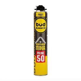Піна монтажна BudMonster Prime 50 професійна, 745 мл, 870 р BudMonster