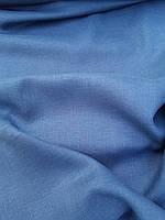 Льняная легкая ткань синего цвета