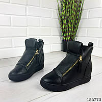 """Ботинки женские демисезонные черные """"False"""" эко кожа, Осенние ботинки. Обувь осенняя"""