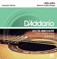 Струны для акустической гитары D'addario EZ920 85/15 12-54