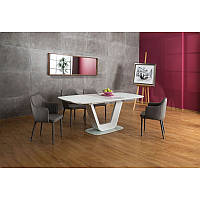 Стеклянный стол Стол обеденный Armani 90х160 93048, цвет - белый