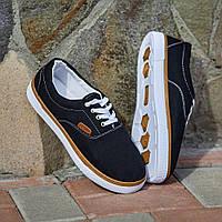 Мокасини стильні чорні з білими шнурками Gipanis