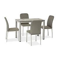 Стеклянный стол Стол обеденный Damar 80 x 60 см Серый 91278, цвет - серый