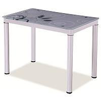Стеклянный стол Стол обеденный Damar 80 x 60 см Белый 91276, цвет - белый