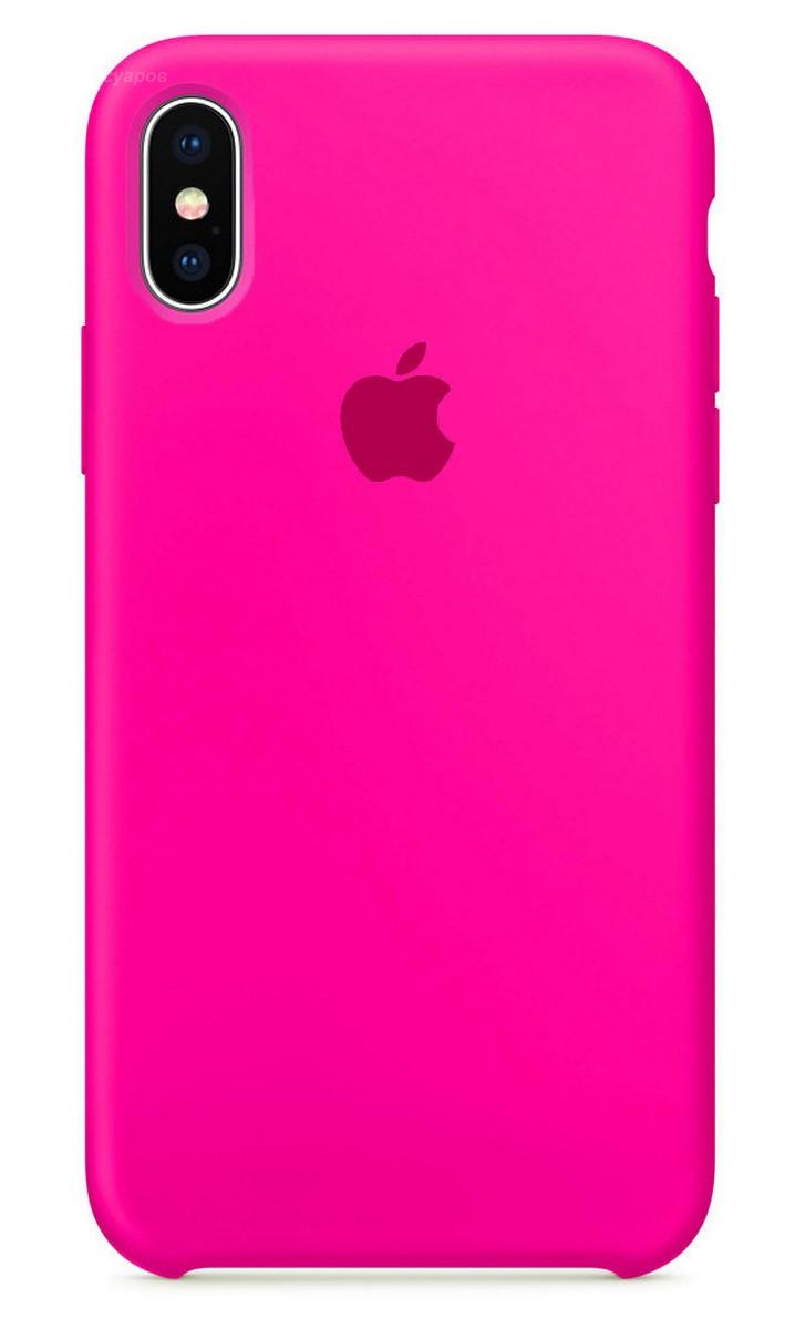 Задняя накладка Hi-Copy Silicone Case APPLE IPHONE XR (№47 HOT PINK)