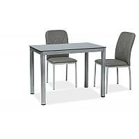Стеклянный стол Стол обеденный Galant 100 x 60 см Серый 93104, цвет - серый