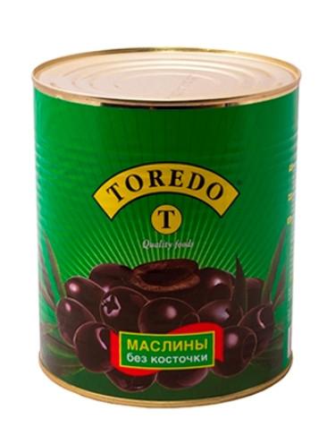 """Маслини чорні без кісточок """"Toredo"""" 3100 г"""