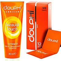 "Набор Dolphi luxe ,,Пламя страсти"":презервативы Dolphi Fire +гель-смазка Sensual Touch, фото 1"