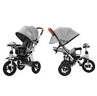 Триколісний велосипед-коляска TILLY TRAVEL T-387 льон