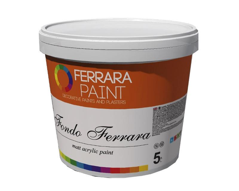 Краска акрилатная FERRARA FONDO интерьерная белый - база W 5л