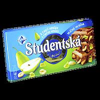 "Шоколад Studentska Hruska ""ГРУША"" молочный с арахисом и кусочками желе, 180г (1ящ/15шт)"