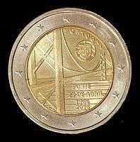 """Монета Португалии 2 евро 2016 г. Мост имени """"25 апреля"""", фото 1"""