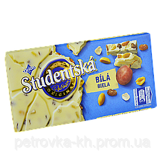 "Шоколад  Studentska ""БЕЛЫЙ"" с арахисом и желе,180г (1ящ/15шт)"
