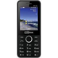 Кнопочный телефон дешевый с фонариком, большим экраном и мп3 плеером на 2 сим карты Maxcom MM136 Black-SIlver