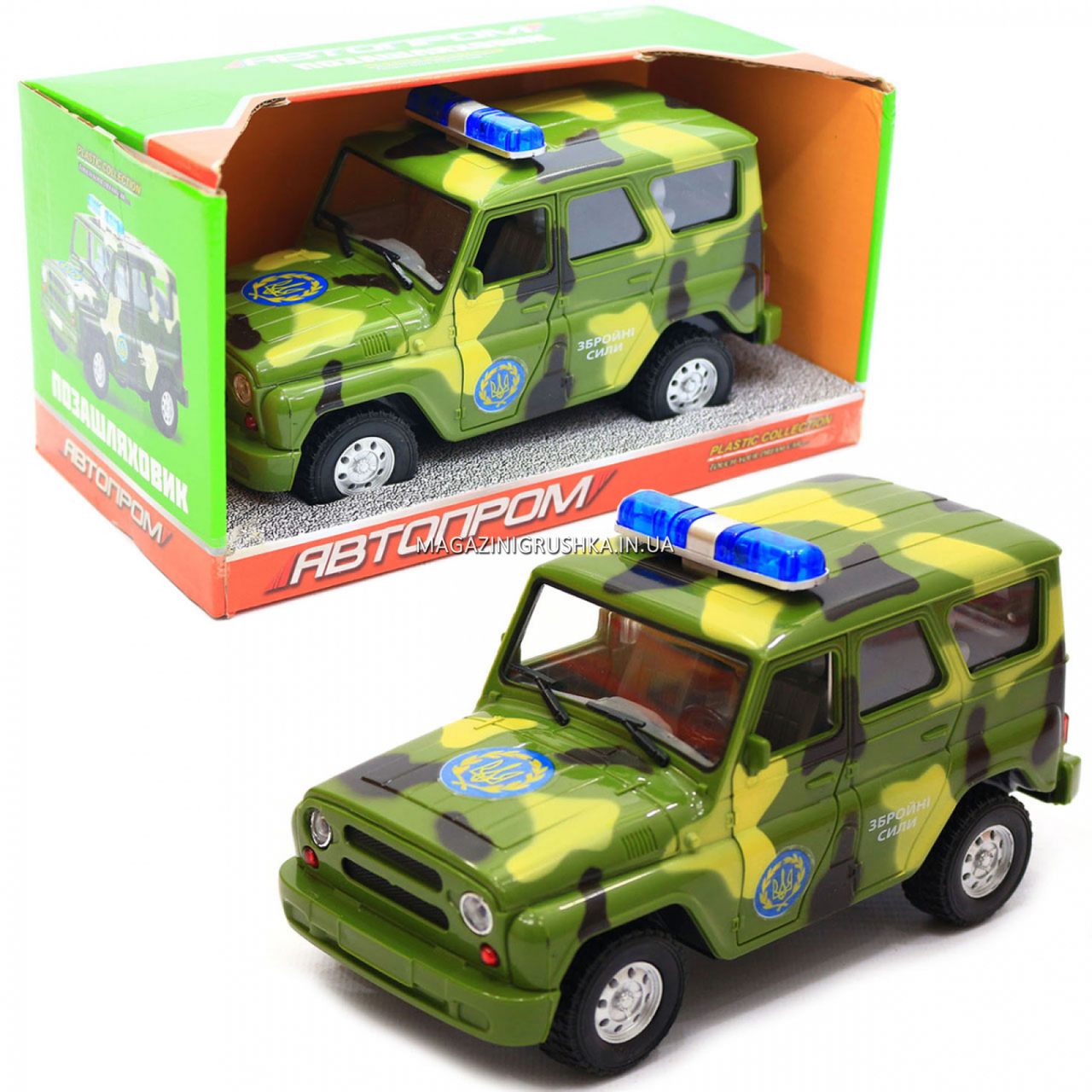 Машинка ігрова Автопром Позашляховик (Збройні сили) зі світловими і звуковими ефектами (7659-3)