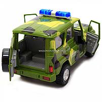 Машинка ігрова Автопром Позашляховик (Збройні сили) зі світловими і звуковими ефектами (7659-3), фото 5