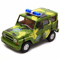 Машинка игровая Автопром Внедорожник (Вооруженные силы) со световыми и звуковыми эффектами (7659-3), фото 6