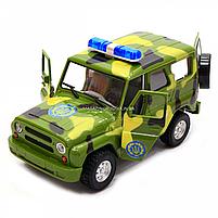 Машинка игровая Автопром Внедорожник (Вооруженные силы) со световыми и звуковыми эффектами (7659-3), фото 7
