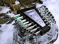 Набор рожково-накидных ключей с трещеткой на кардане 8 шт Euro Craft