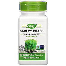 "Ячмень Nature's Way ""Barley Grass Young Harvest"" молодой урожай, 1500 мг (100 капсул)"