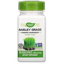"Ячмінь nature's Way ""Barley Grass Young Harvest"" молодий урожай, 1500 мг (100 капсул)"