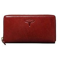 Женский кожаный кошелек на молнии Buffalo Wild красный